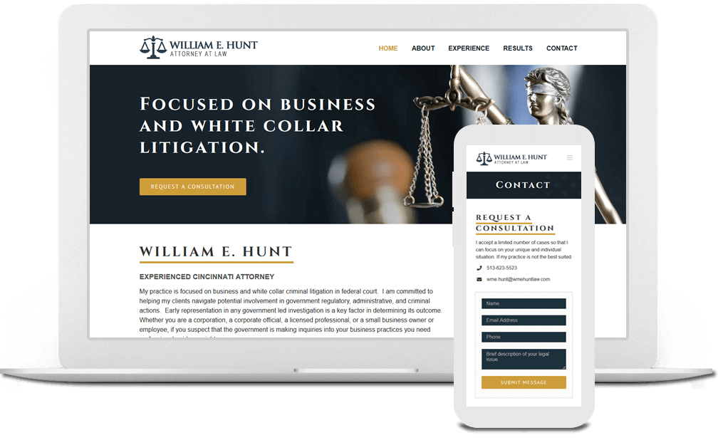 Attorney Website Design in Cincinnati, Ohio - Austin Blu