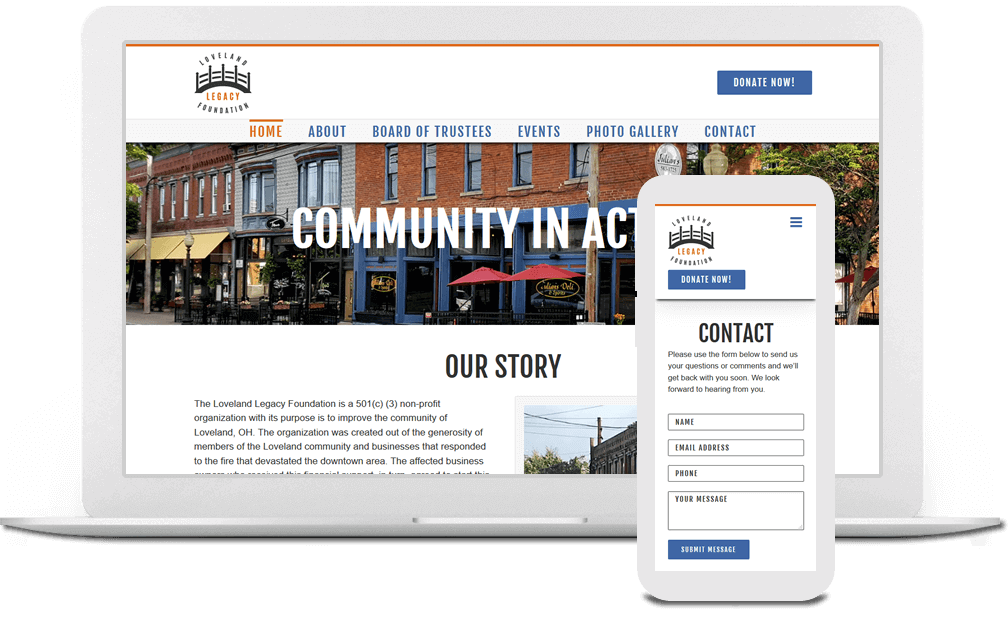 Non-profit Website Design in Cincinnati, Ohio - Austin Blu