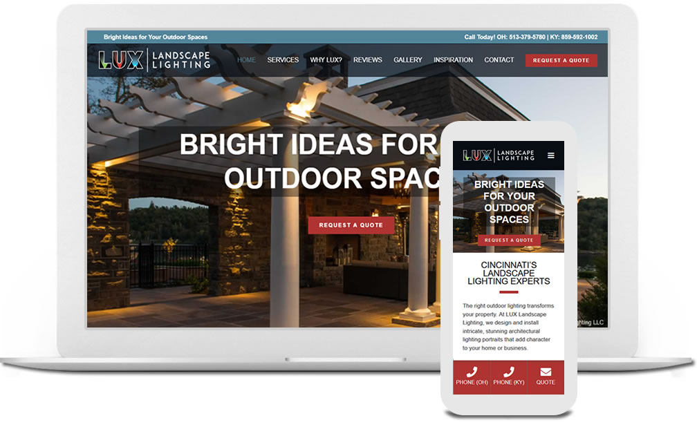 Lanscape ligting web design in Cincinnati, Ohio | Austin Blu