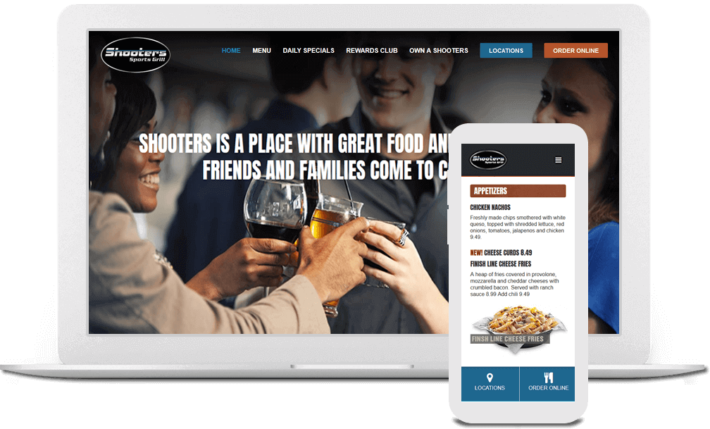 Restaurant web design in Cincinnati, Ohio | Austin Blu