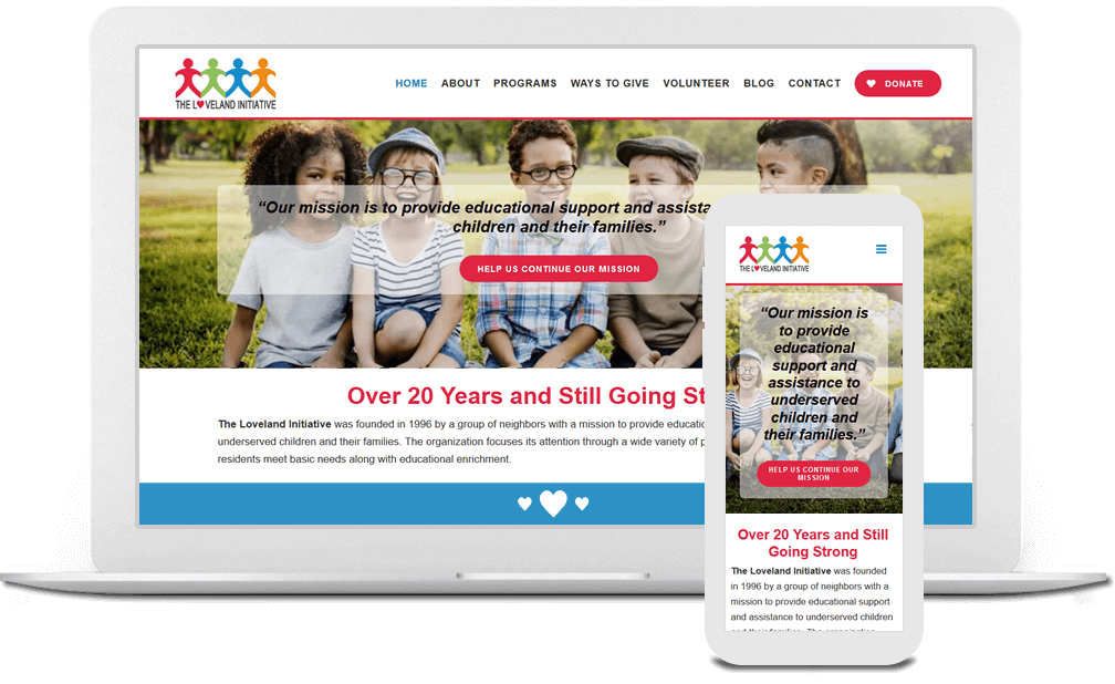 Charity Website Design in Cincinnati, Ohio - Austin Blu