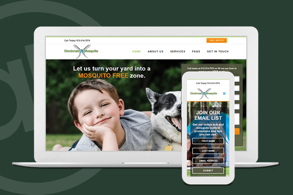 Website Design for Pest Control Company in Cincinnati, Ohio | Austin Blu