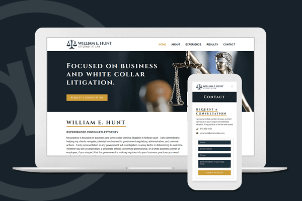 Website Design for Attorney in Cincinnati, Ohio | Austin Blu