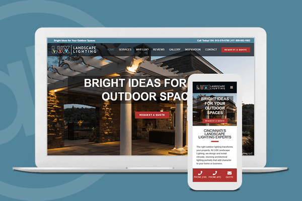 Website Design for Landscape Lighting Company in Cincinnati, Ohio | Austin Blu