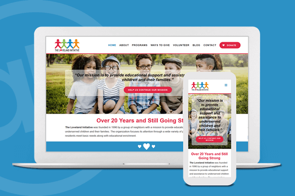 Website Design for Childrens Charity in Cincinnati, Ohio | Austin Blu